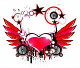 Love and Music Background