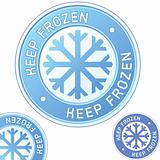 Keep frozen food package label