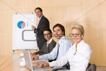 business team in boardroom