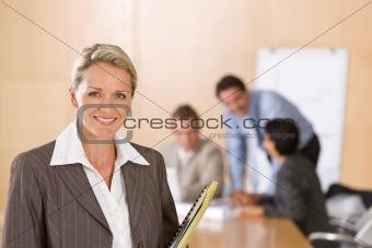 portrait of beautiful female executive