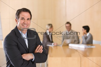 portrait of handsome male executive