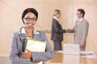 portrait of attractive female executive
