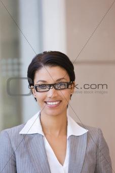 Portrait of happy business woman