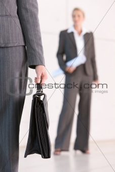 business woman carrying briefacse