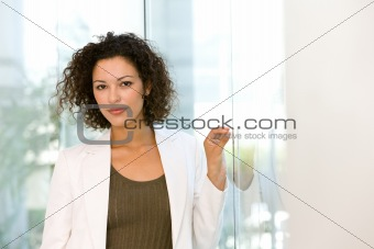 Portrait of attractive business woman