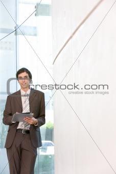 portrait of young confident business man