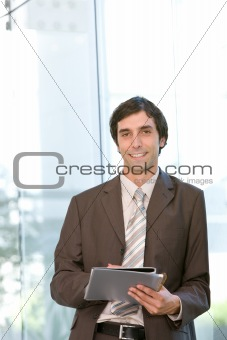 portrait of young confident business man