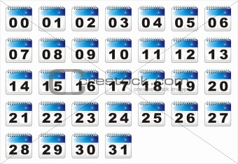 Calendar Icon Numbers