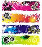 Grunge Style Music Banner