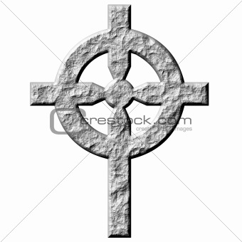 3D Stone Celtic Cross