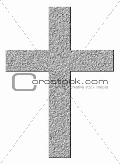 3D Stone Cross