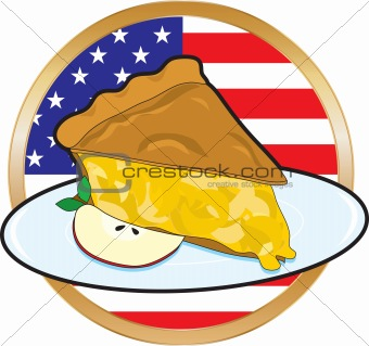 Apple Pie American Flag