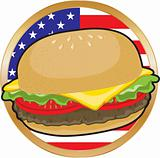 Hamburger American Flag