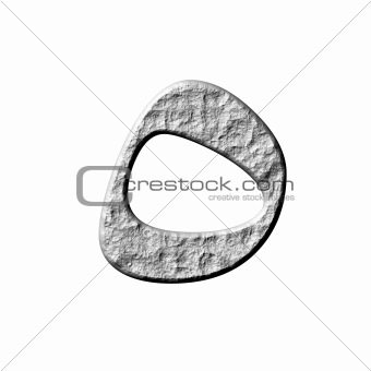 3D Stone Arab Number 5