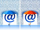 e-mail sign under umbrella