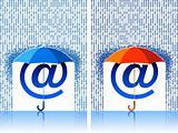 e-mail sign under umbrella