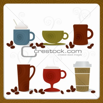 Colorful Coffee Cups