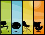 Modern Chair Tall Banners