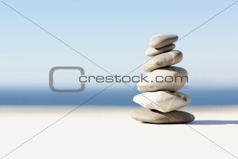 Closeup of stones piled up
