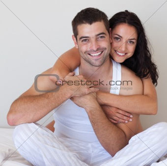 Smiling Romantic Couple