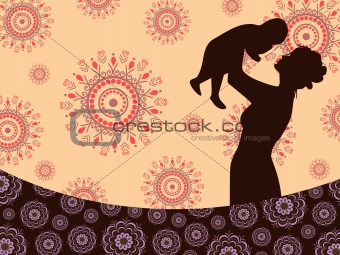 artwork background with silhouette