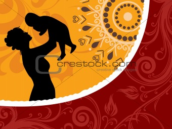 beautiful mother day concept