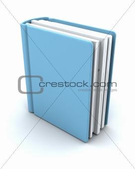 3d render of a book