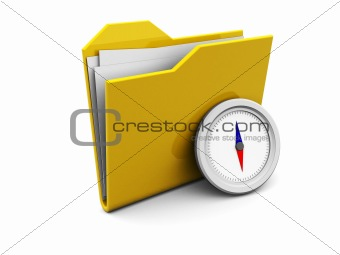 folder icon with compass