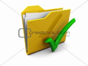 folder and green tick