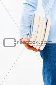 Carrying a lot of books