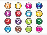 rounded multicolor web glassy icons