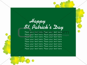 abstract shamrock with place for text