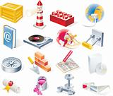 Vector objects icons set. Part 15