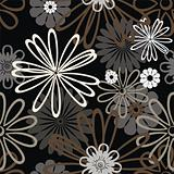 black retro pattern