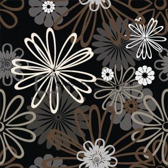black retro pattern