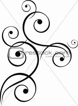 black spiral motive