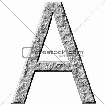 3D Stone Letter A