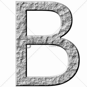 3D Stone Letter B