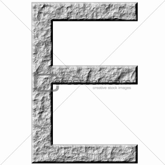 3D Stone Letter E