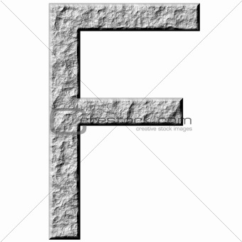 3D Stone Letter F