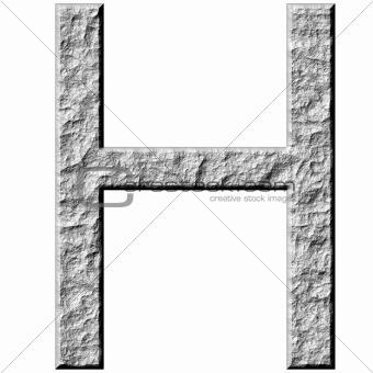 3D Stone Letter H