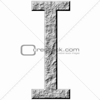 3D Stone Letter I