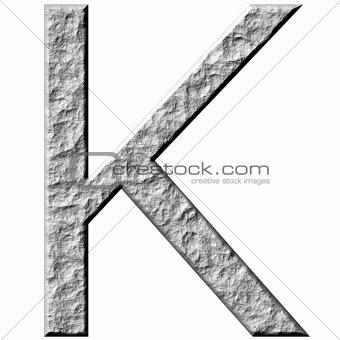 3D Stone Letter K