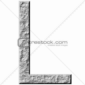 3D Stone Letter L