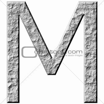 3D Stone Letter M