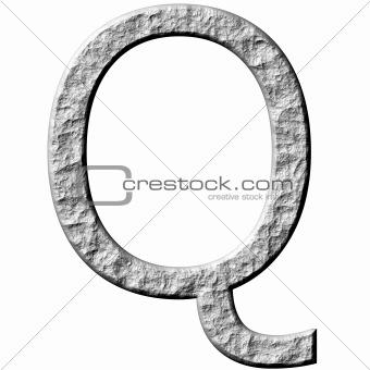 3D Stone Letter Q