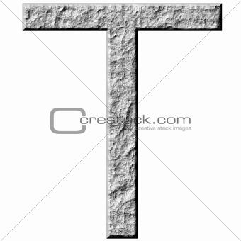 3D Stone Letter T