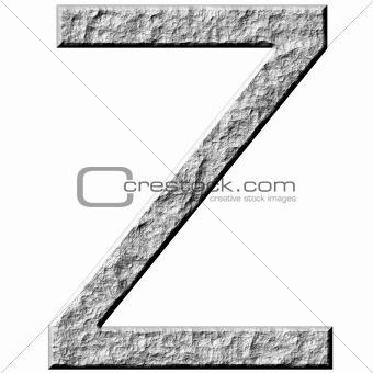 3D Stone Letter Z