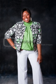 Beautiful African woman laughing