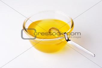bee honey and spoon